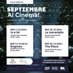 """""""SETTEMBRE AL CINEMA"""" ALL'IIC DI BUENOS AIRES"""