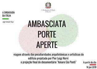 AMBASCIATA PORTE APERTE: A BRASILIA L'EDIZIONE 2018