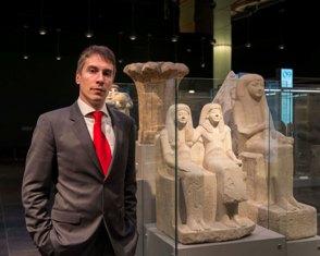 IL DIRETTORE DEL MUSEO EGIZIO DI TORINO CHRISTIAN GRECO AL MUSEO POINTE-À-CALLIÈRE DI MONTREAL