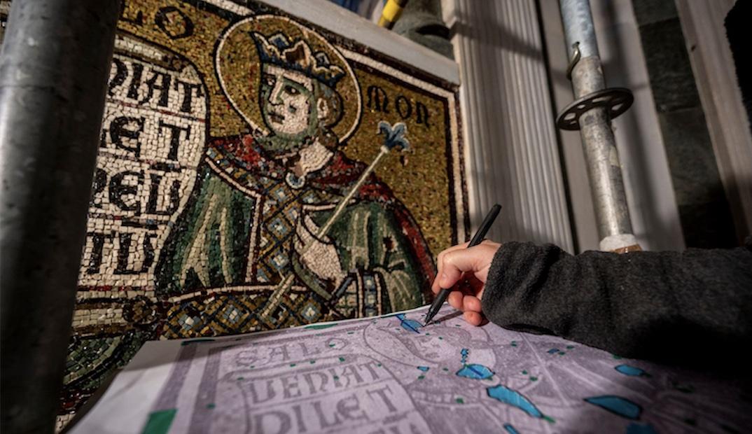 Risplendono i mosaici trecenteschi del Battistero di Firenze