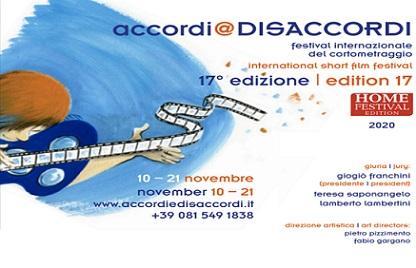 accordi @ DISACCORDI – FESTIVAL INTERNAZIONALE DEL CORTOMETRAGGIO: 17MA EDIZIONE AI NASTRI DI PARTENZA ONLINE