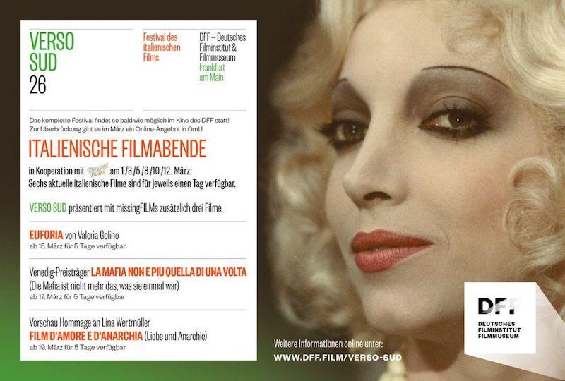 """""""Verso Sud"""": a Francoforte sul Meno il Festival del cinema italiano/Festival des italienischen Films è on line"""