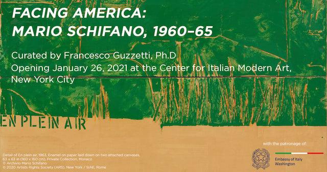 """""""Facing America"""": Mario Schifano al CIMA di NY"""