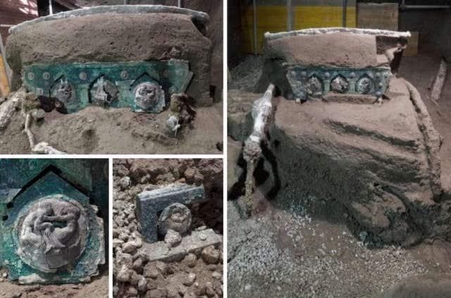 Gli scavi a Pompei restituiscono uno straordinario carro da parata