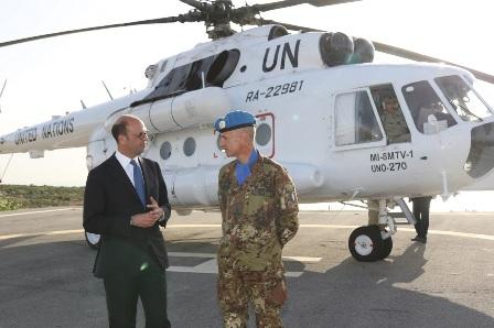 ALFANO IN VISITA DAI MILITARI ITALIANI IN LIBANO