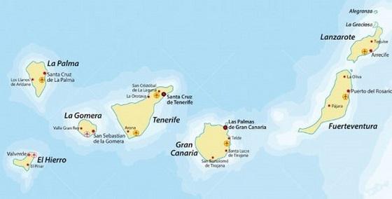 Cartina Spagna E Isole Canarie.Opportunita Di Business In Spagna E Isole Canarie Il Webinar Della Cci Spagna