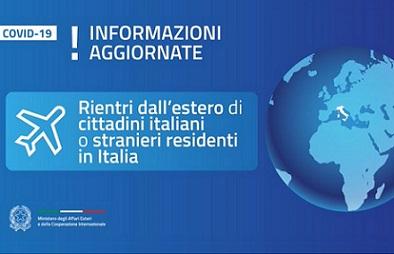 RIENTRI DALL'ESTERO E STRANIERI IN ITALIA