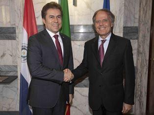 IL MINISTRO MOAVERO MILANESI INCONTRA IL COLLEGA DEL PARAGUAY CASTIGLIONI