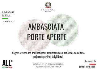 PORTE APERTE IN AMBASCIATA A BRASILIA: GLI APPUNTAMENTI ESTIVI
