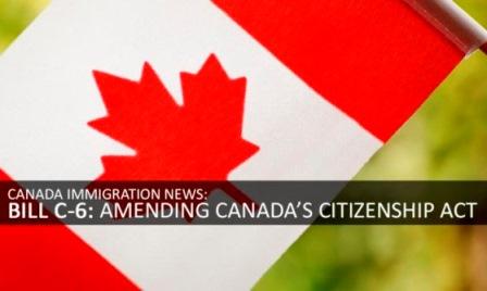 CITIZENSHIP ACT CANADA: CAMBIANO LE REGOLE