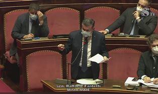 Conte in Senato: l'intervento di Fantetti (Maie-Italia 23)
