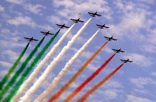 Le Frecce Tricolori volano sul Gran Premio di Formula 1