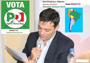 POLITICHE 2018/ DALLA PAMPA ARGENTINA L'IMPEGNO POLITICO DEL CANDIDATO PD JOSÉ FRANCISCO MINETTO
