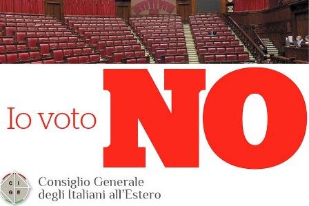 TAGLIO PARLAMENTARI/ CGIE: VOTATE NO AL REFERENDUM!