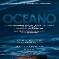 """AD ASUNCIÓN LA PRIMA MONDIALE DELL'OPERA LIRICA """"OCEANO"""" SULLE MIGRAZIONI ITALIANE IN SUD AMERICA"""