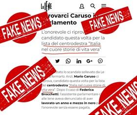 """CARUSO (NOI CON L'ITALIA-UDC): ECCO LA NUOVA FAKE NEWS DE """"LE IENE"""" SUL MIO CONTO"""