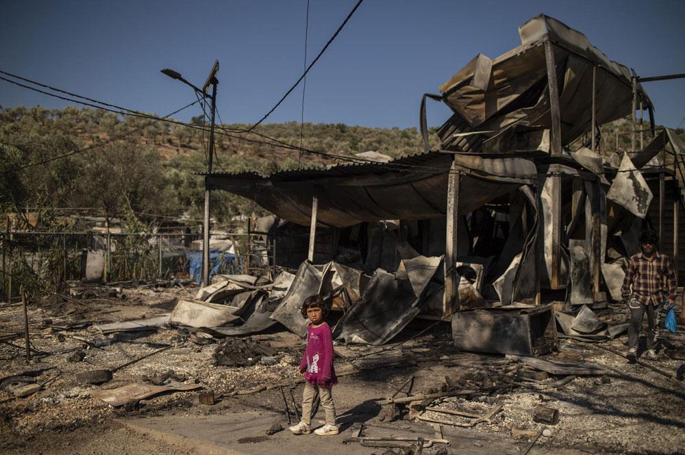 INCENDIO CAMPO DI MORIA (LESBO): APPELLO UNICEF PER RISPONDERE AI BISOGNI DI 4.200 BAMBINI