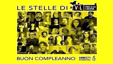 """""""VOCI PER LA LIBERTÀ"""": UNA GIORNATA MUSICALE ONLINE PER FESTEGGIARE IL COMPLEANNO DI AMNESTY INTERNATIONAL"""
