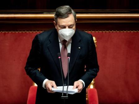 Il Senato vota la fiducia al Governo Draghi