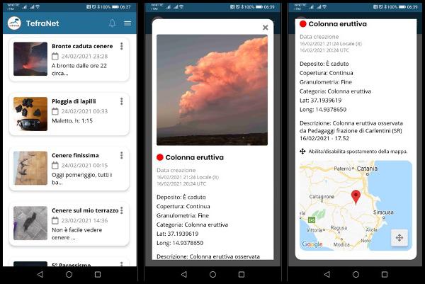 TefraNet: l'INGV lancia l'App per il monitoraggio in tempo reale delle emissioni di cenere vulcanica