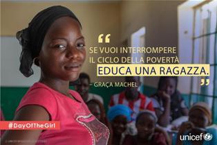 UNICEF PER LA GIORNATA INTERNAZIONALE DELLE BAMBINE E DELLE RAGAZZE