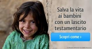 IL 13 SETTEMBRE L'UNICEF CELEBRA LA GIORNATA INTERNAZIONALE DEI LASCITI
