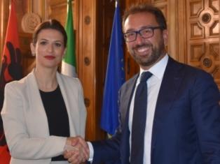 INCONTRO TRA BONAFEDE E GJONAJ PER IL RAFFORZAMENTO DELLA COOPERAZIONE ITALIA - ALBANIA