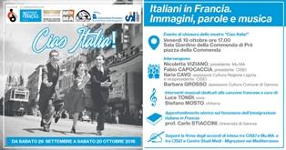 CIAO ITALIA: EVENTO DI CHIUSURA PER LA MOSTRA CISEI