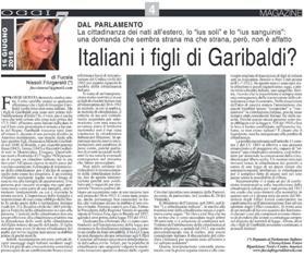ITALIANI I FIGLI DI GARIBALDI? - di Fucsia Nissoli Fitzgerald