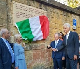 A METZ L'INAUGURAZIONE DI UNA STELE IN MEMORIA DEI PARTIGIANI ITALIANI