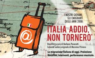 ITALIA ADDIO, NON TORNERÒ: IL DOCUMENTARIO A MILANO