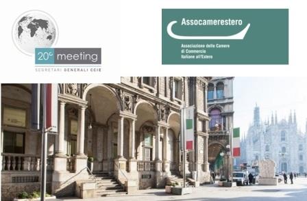 A MILANO IL 20° MEETING DELLE CAMERE DI COMMERCIO ALL'ESTERO