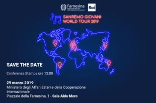 ALLA FARNESINA IL LANCIO DI SANREMO GIOVANI WORLD TOUR