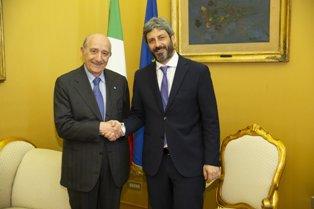 IL PRESIDENTE DELLA CAMERA FICO INCONTRA IL PRESIDENTE UNICEF ITALIA SAMENGO