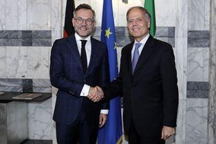 MOAVERO INCONTRA IL MINISTRO TEDESCO AGLI AFFARI EUROPEI ROTH