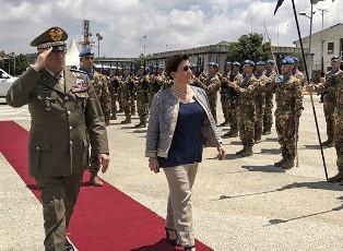 IL GENERALE DEL COL AL COMANDO DELLA MISSIONE UNIFIL/ MINISTRO TRENTA: GRANDE ONORE PER L'ITALIA