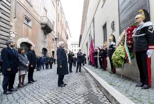 MATTARELLA IN VIA CAETANI PER I 41 ANNI DALL'UCCISIONE DI MORO