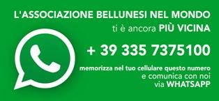 NUOVO SERVIZIO DI WHATSAPP OFFERTO DALL'ASSOCIAZIONE BELLUNESI NEL MONDO E DA RADIO ABM