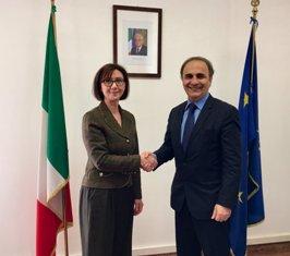 MERLO RICEVE IN FARNESINA L'AMBASCIATRICE DI ALBANIA IN ITALIA BITRI