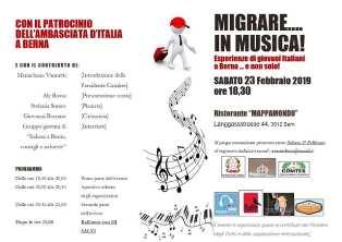 MIGRARE IN MUSICA: I GIOVANI ITALIANI DI BERNA SI RACCONTANO