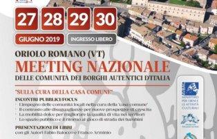 SULLA CURA DELLA CASA COMUNE: A ORIOLO ROMANO IL MEETING NAZIONALE DELLE COMUNITÀ DEI BORGHI AUTENTICI D