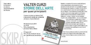 STORIE DELL'ARTE PER QUASI PRINCIPIANTI: A ROMA LA PRESENTAZIONE DEL LIBRO DI VALTER CURZI