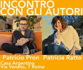 PATRICIO PRON E PATRICIA RATTO CON L'IILA ALLA CASA ARGENTINA DI ROMA
