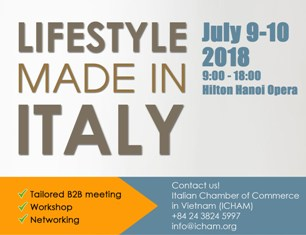 LIFESTYLE MADE IN ITALY: SECONDA EDIZIONE DEL FESTIVAL ITALIANO A HANOI