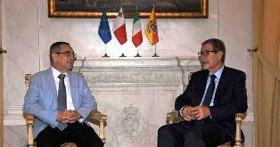 MUSUMECI (SICILIA) RICEVE IL MINISTRO DELL'ENERGIA MALTESE
