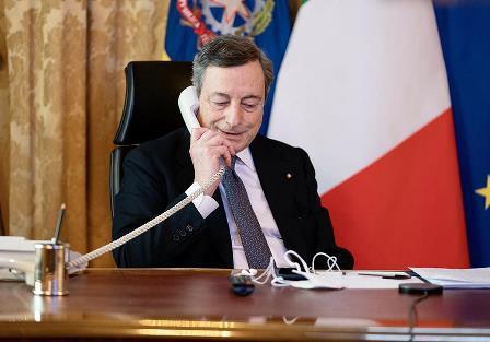 Colloquio telefonico tra il Presidente Draghi e il Segretario Generale Onu Guterres