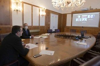 Trento: il Presidente Fugatti a colloquio con il Console generale degli Usa Robert Needham