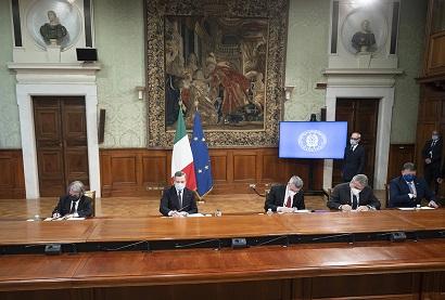 """A Palazzo Chigi la firma del """"Patto per l'innovazione del lavoro pubblico e la coesione sociale"""""""
