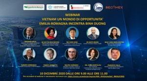 L'Emilia-Romagna incontra la provincia vietnamita di Binh Duong: Memorandum per la cooperazione economica