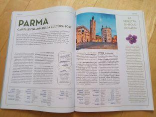 """Parma capitale italiana della cultura 20/21 celebrata sulla rivista bilingue italo-tedesca """"Adesso"""""""
